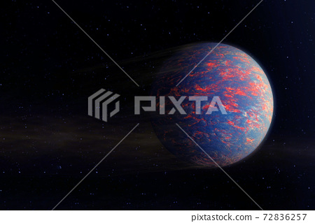 Exoplanet in a far dark space. Elements of this image were furnished by NASA. 72836257