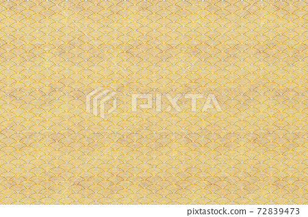 Background material: Japanese paper, Qinghai wave pattern, Japanese style image, texture, illustration material 72839473
