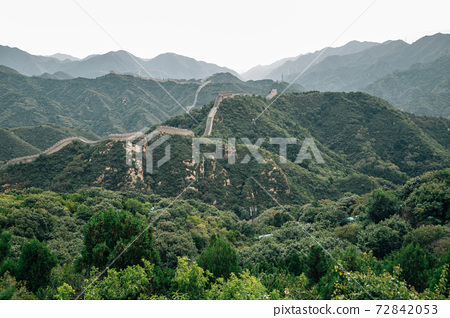 The Great Wall and mountains in Beijing, China 72842053