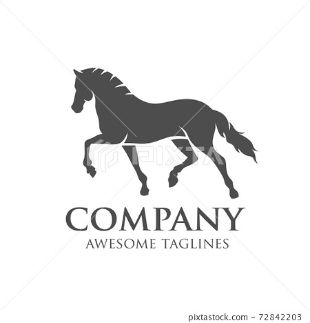 simple horse vector illustration best for sport races logo 72842203