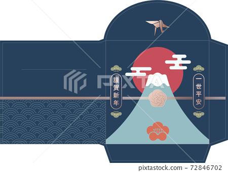富士山紅包袋 72846702
