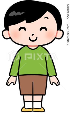 一個微笑的男孩 72848669