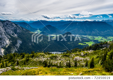 Valley With Forests And Villages Beneath Lake Grundlsee in The Alps Of Styria In Austria 72850019
