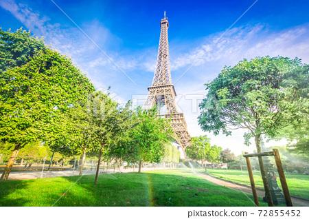 eiffel tour and Paris cityscape 72855452