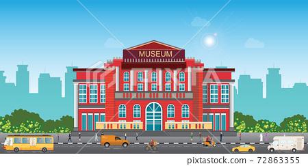 Exterior of museum building. 72863355