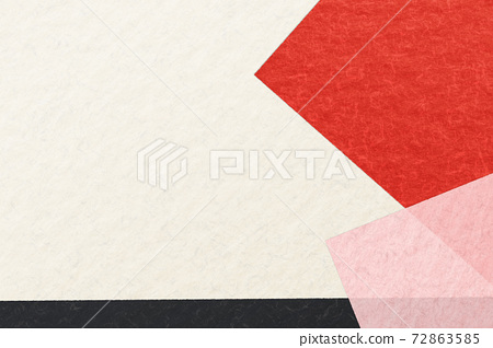 Illustration material Background material Japanese paper Paper Abstract Abstract New Year Happy New Year Luxury Gorgeous red and white Black 72863585