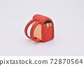 Red school bag made of clay 72870564