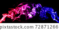 Colorful smoke or fog with red and blue lighting effect in dark background. 72871266