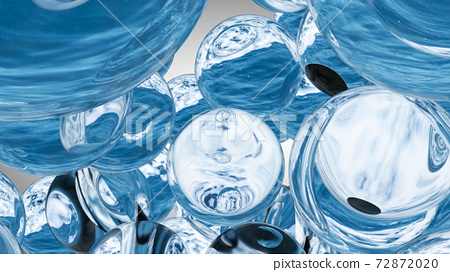 Background of beautiful water drops. 3D rendering 72872020