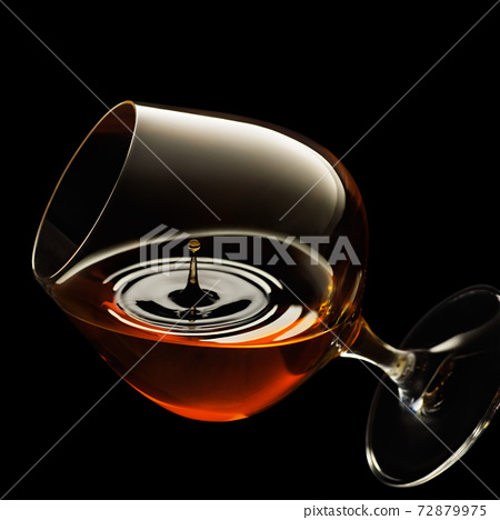 cognac in snifter glass 72879975