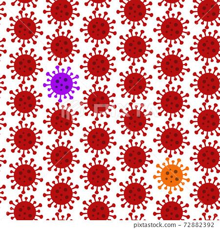 Seamless background material, new coronavirus, mutant generation image, epidemic mutant, new species evolution 72882392