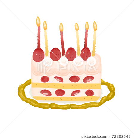 草莓生日蛋糕蠟燭 72882543
