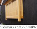 신축 건물, 칠판 카베 베이 새 목재 색상. 72886897