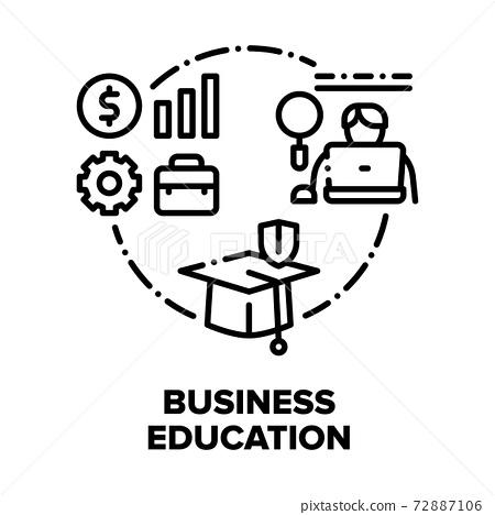Business Education Courses Vector Concept Black Illustration 72887106