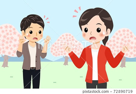 벚꽃, 커플, 연인 72890719