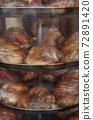 [約旦]在安曼市中心的飯店裡取暖的木炭烤雞 72891420