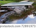 연못에 무대 설치, 레스토랑의 정원. 72891973