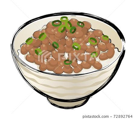 Natto rice 72892764