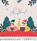 크리스마스 일러스트 01 72894712