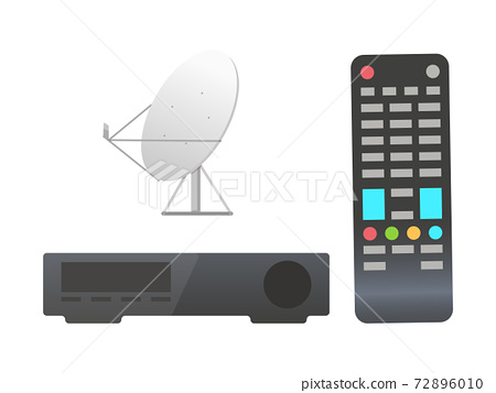 Remote Control and Satellite Dish Services Set 72896010