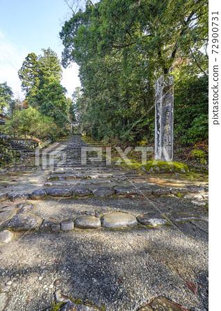 이끼 낀 平泉寺 하쿠산 신사 정진 언덕과 한 도리 (후쿠이 현 가쓰 야마시) 72900731
