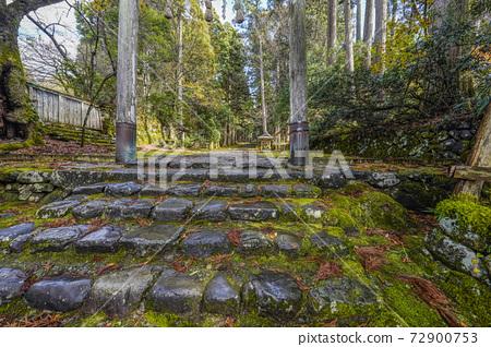 이끼 낀 平泉寺 하쿠산 신사 정진 언덕과 한 도리 (후쿠이 현 가쓰 야마시) 72900753
