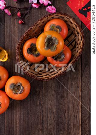 柿子 農曆新年 新年 紅包 persimmon chinese new year あまかき 甜柿 72904418