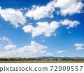 청명한 하늘과 초원 사진 소재 72909557