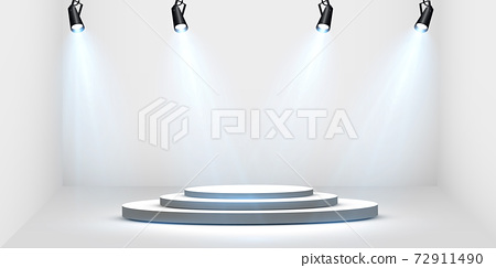 Vector Spotlights. Scene. Light Effects. Glow light effect. Vector illustration. 72911490