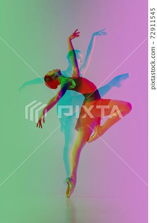 Multiple portrait with glitch duotone effect 72911545