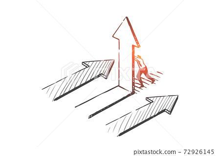 Business opportunity, pathway choosing concept sketch. Hand drawn isolated vector 72926145