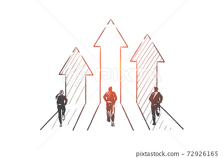 Business competition concept sketch. Hand drawn isolated vector 72926165