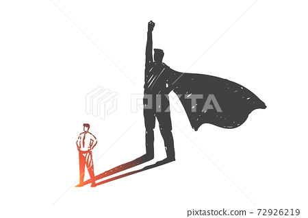 Personal development, leadership, ambition concept sketch. Hand drawn isolated vector 72926219