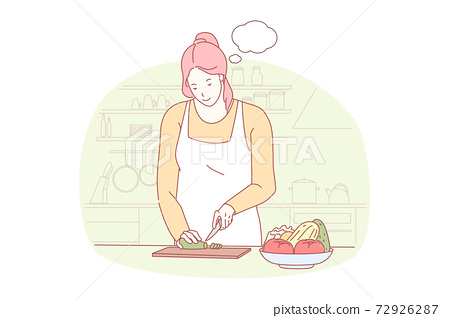 Cooking, preparing dinner, gastronomy concept 72926287