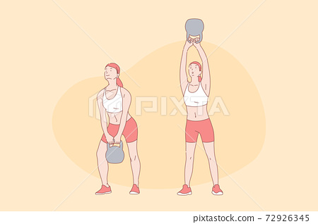 Sport exercises, workout, functional training, active lifestyle concept 72926345
