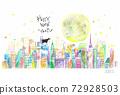 新年賀卡母牛,城市和月份 72928503
