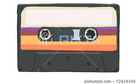 80年代風格的盒式磁帶 72929348