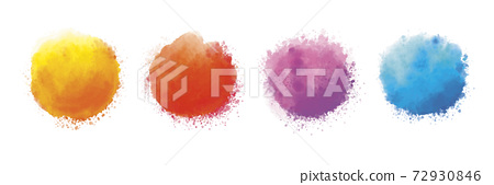Watercolor on white background vector illustration 72930846