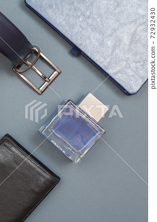 Set of men clothes, accessories in business style. Luxury businessman attributes. 72932430