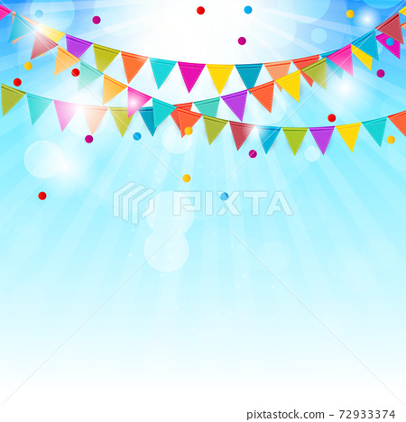 Party Background with Flags Vector Illustration. EPS10 72933374