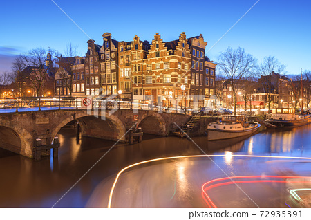 Amsterdam, Netherlands Bridges and Canals 72935391