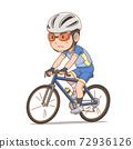 Cartoon character of cyclist boy. 72936126