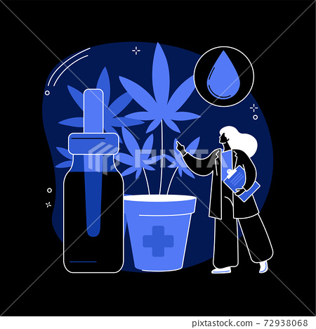 Hemp seed oil abstract concept vector illustration. 72938068