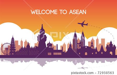 famous landmark of southeast Asia 72938563