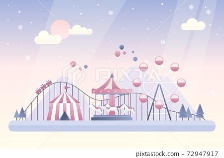 冬季遊樂園矢量圖 72947917