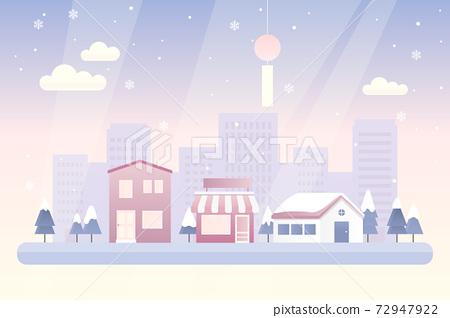 Urban winter landscape vector illustration 72947922
