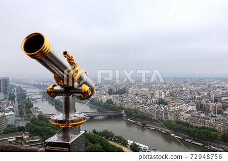 View of Paris from the observation deck of the Eiffel Tower 72948756
