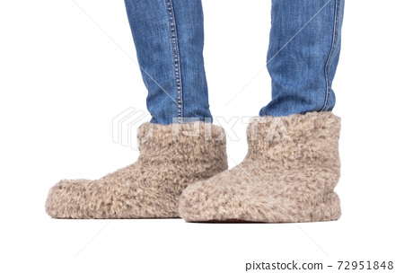 Warm woolen indoor slippers 72951848