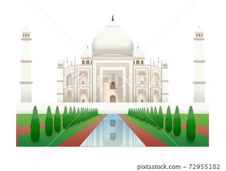 One of seven wonders from Agra India, Taj Mahal 72955182