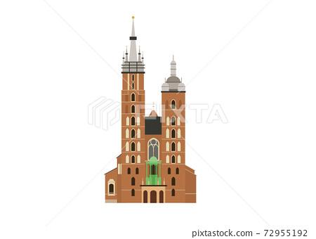 St Mary Church from Krakow Poland 72955192